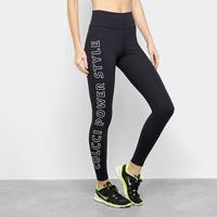 Calça Legging Colcci Fitness Estampada Power Feminina - Feminino-Preto