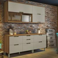 Cozinha Compacta Duquesa 5 Pt 5 Gv Off White E Freijó