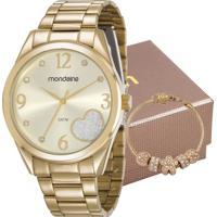 Kit Relógio Mondaine Feminino Com Pulseira 83433Lpmvde1K