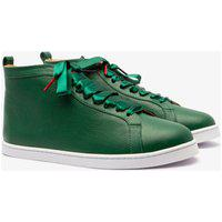 Sneaker Twins For Peace - Boubou High Top Couro Green
