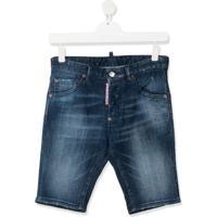 Dsquared2 Kids Bermuda Jeans - Azul