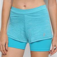 "Short Asics Color 2""1 Feminino - Feminino-Azul Piscina"