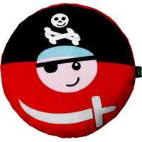 Travesseiro Pirata- Preto & Vermelho- 6Xø25Cm- Bbright Starts
