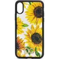 Dolce & Gabbana Floral Print Iphone X Case - Amarelo