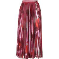 Emilio Pucci Abstract Print Pleated Skirt - Vermelho