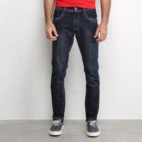 Calça Jeans Slim Sawary Masculina - Masculino-Azul