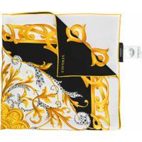 Versace Echarpe Com Estampa Gráfica - Branco
