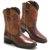Bota Lookstock Country Texana Bordada Macia Feminina - Feminino
