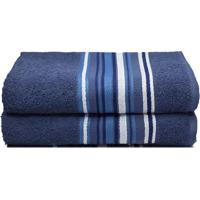 Toalha De Rosto Vegas- Azul Marinho & Branca- 45X70Ccamesa
