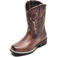 Bota Infantil Country Texana Top Franca Shoes Masculina - Masculino-Cafe