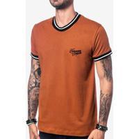 Camiseta Gola E Punho Listras Pretas 104066
