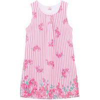 Vestido Infantil Abrange Flores Rosa Abrange Casual Rosa