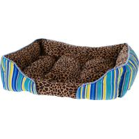 Cama Pet Retangular Para Cachorros E Gatos Animal Print 80Cm X 60Cm - Meu Pet