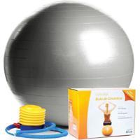 Bola Pilates 65Cm C/ Bomba Ar Pvc - Scalibu - Unissex
