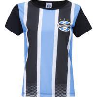 Camiseta Do Grêmio Classic 19 - Feminina - Azul/Preto