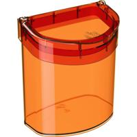 Lixeira De Pia Glass 2,7 Litros Tangerina Coza