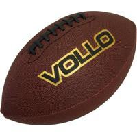 Bola De Futebol Americano Vollo Vf001 Pvc Marrom - Unissex