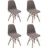 Conjunto Com 4 Cadeiras Eames Eiffel Citrino Cinza