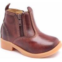 Bota Infantil D&R Shoes Masculina - Masculino-Café