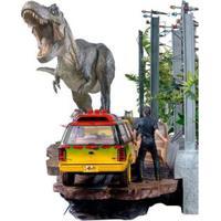 T-Rex Attack Bds Art Scale 1/10 - Jurassic Park Full Set