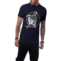 Camiseta Ukkan Skull Skate Masculina - Masculino-Marinho