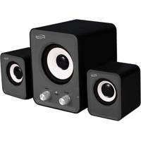 Subwoofer 2.1 Power Song- Preto & Cinza- 22X30X16Cm