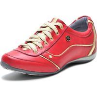 Tenis Sapatenis Bmbrasil 112-03 Vermelho