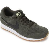 Tênis Nike Md Runner 2 Suede Masculino - Masculino-Preto+Verde