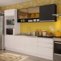 Cozinha Compacta Angela Branco E Preto