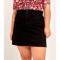 Saia Clochard Jeans Lisa Curve & Plus Size | Ashua Curve E Plus Size | Azul | 50