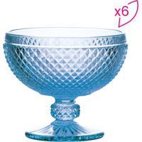 Jogo De Taã§As Para Champanhe Bico De Jaca- Azul- 6Pã§Rojemac