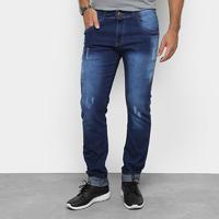 Calça Skinny Coffee Estonada Masculina - Masculino-Jeans