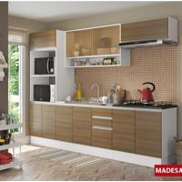 Cozinha Compacta Madesa Glamy Emily 11 Portas 2 Gavetas - Branco/Rustic