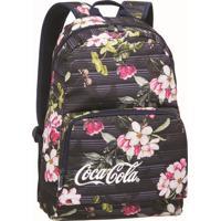 Mochila Para Notebook Pcf Coca-Cola Garden Floral Preta