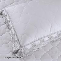 Porta Travesseiro Cristal Heros Com Renda- Branco- 7Buettner
