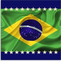 Quadro Bandeira Uniart Verde 45X45Cm