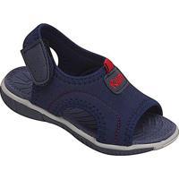 Papete Com Tag & Velcro - Azul Marinho & Vermelha- Kkiath