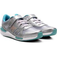 Tênis Infantil Kidy Style Jogging Sport Feminino - Feminino-Mescla