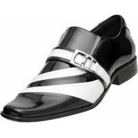Sapato Social Gofer - Masculino-Preto+Branco