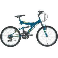 Bicicleta Polimet Kanguru Full Suspension Aro 20 V-Brake Infantil 18V - Unissex