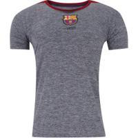 Camiseta Barcelona Mezcla - Masculina - Cinza Esc/Vinho