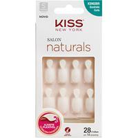 Unhas Postiças Naturais Kiss New York Salon Natural Curto Quadrado Com Aba - Feminino-Incolor
