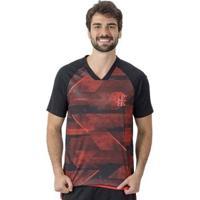 Camisa Flamengo Blade Braziline Masculina - Masculino-Preto+Vermelho