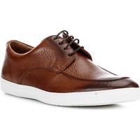 Sapatênis Couro Shoestock Clássico Masculino - Masculino-Marrom
