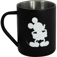 Caneca De Aço Zona Criativa Mickey Mouse Preta