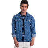 Jaqueta Jeans Express Slow Masculina - Masculino-Azul