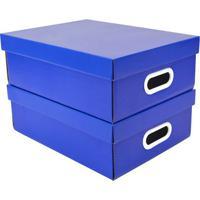 Jogo De Caixas Paper- Azul Escuro- 2Pã§S- Boxmaniboxmania