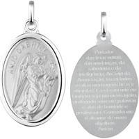 Pingente Medalha Anjo Gabriel Em Prata 925 - Unissex