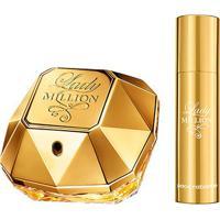 Kit Perfume Paco Rabanne Lady Million Feminino Edp 50Ml + Travel Spray 10Ml - Feminino-Incolor