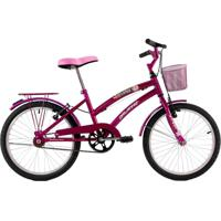 Bicicleta Dalannio Aro 20 Com Cestinha Susi Rosa Verniz